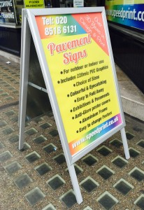 A Frame Aluminium Pavement Sign