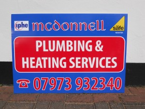A1 size Siteboard, printed in Full Colour on 4mm Correx board