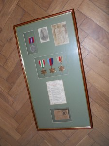 Framing War Medals