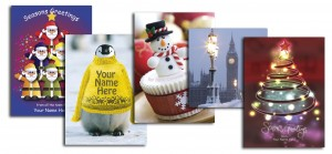 Choose from hundreds of pre-designed Christmas cards